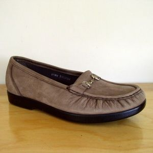 SAS Taupe Leather 'Metro' Horsebit Loafer Sz 8.5W